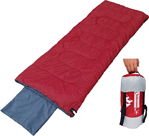 Outdoorsman Lab Lightweight Sleeping Bag for Camping, Backpacking, Travel- Kids Men Women 3 Season Ultralight Compact Packable Bag with Compression Sack