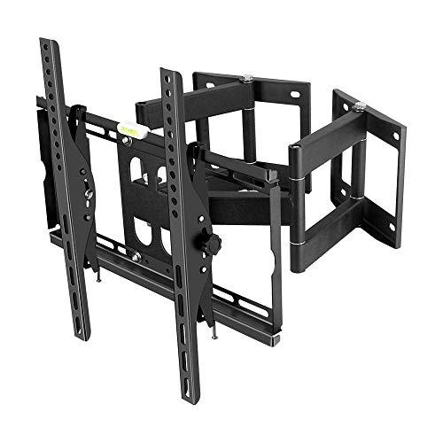 TV-montering skärmställ i rostfritt stål Trä för de flesta 32-55 tum TV-apparater hörn-TV-väggskåp upp till 50 kg justerbar lutningshöjd max VESA 400x400 mm
