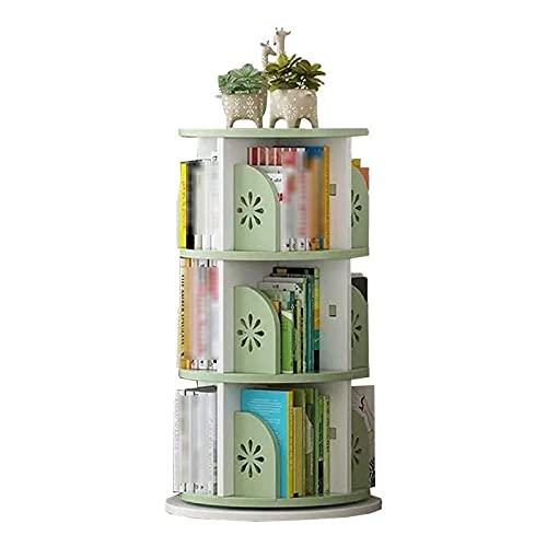 Inicio Equipos Librerías Estantería de madera Sun Flower Diseño de deflectores Creative 360 deg;Estante de almacenamiento de esquina de piso giratorio Estante de exhibición de almacenamiento de
