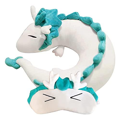 Anime Cute Haku Dragon Neck U Pillow U-Shaped Travel Pillow, Japanese Anime Stuffed Animal Neck...