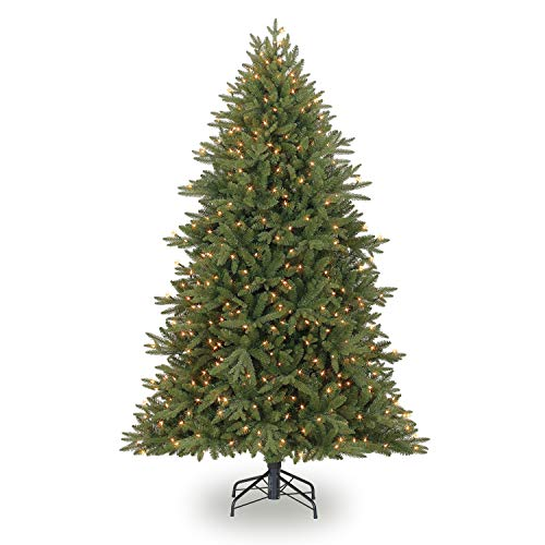 Evergreen Classics 6.5 Feet Pre-Lit Colorado Spruce Artificial Christmas Tree, Clear Lights