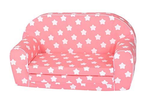 KNORRTOYS.COM 68431 Knorrtoys 68431-Kindersofa-Pink White Stars