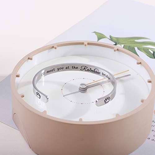 ALoveSoul Pet Memorial Bracelet - Pet Sympathy Gift, I'll Meet You at The Rainbow Bridge, Dog/Cat Memorial Jewelry
