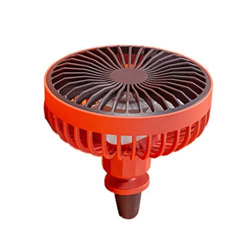 BESPORTBLE Auto Koeling Ventilator USB Airco Elektrische Zomer Ventilator Ventilatie Mini Outlet Ventilator voor Auto Auto Truck Rood, 10.7X10.9cm, Rood