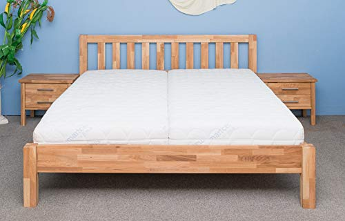 Vaja Doppelbett Ben Eiche massiv, geölt 180 x 200 cm