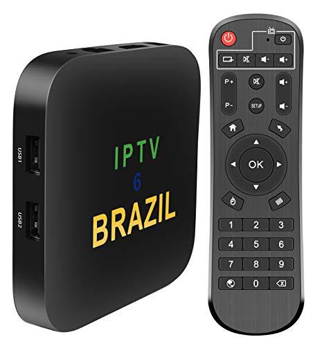 2021 Brazil IPTV Box Android 9 OS 2GB RAM+16GB ROM