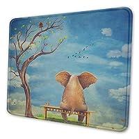 悲しい象 マウスパッド 20 X 24cm 滑り止め 防水 おしゃれ 洗える ビジネス用 家庭用 ゲーム用