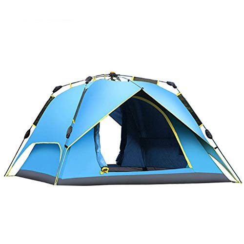 ZTJ Instant Pop Up Tent, Portable Automatic Outdoor Camping Tent UV Protection 3-4 Person 215x215x135cm,Blue