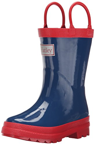 Hatley Rainboots -Navy & Red - Botas Niños, Multicolor (Blue), talla 35.5
