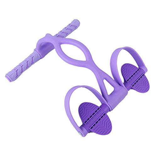 HAOBANLV Seil Ziehen Pedal Rallye Aufsetzen Hilfsmittel Home Fitness Yoga Übung Elastisches Seil Skulptur Bauch Taille Arm Bein Für Männliche Dame - Lila