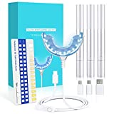 Teeth Whitening Kit Hochwertiges Zahnaufhellung Set mit 24X LED Licht und 3 Zahnaufhellung Stifte,Zahn Bleaching Set für Zahnaufhellung & Weiße Zähne