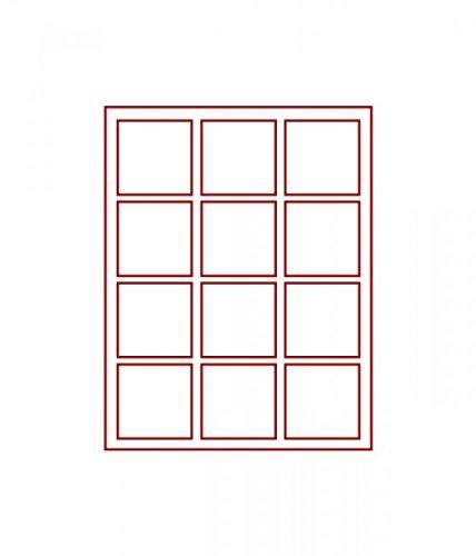 LINDNER Das Original d-Box FUMÉ à 12 alvéoles carrés 66 x 66 mm pour Monnaies/médailles et Autres Objets de Collection