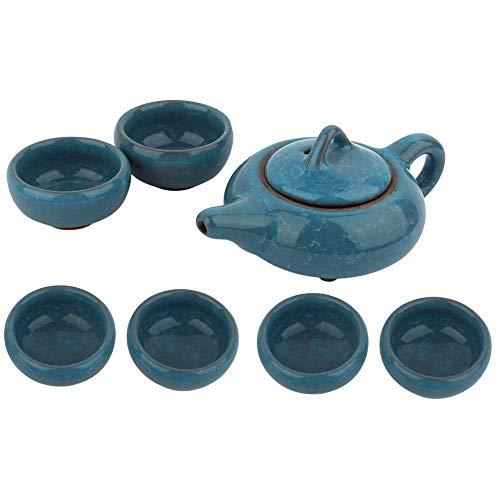 Estilo Tradicional chino Kung Fu Té Porcelana Tetera Taza Kit Hielo Agrietado Esmalte Colorido Porcelana Juego de té Juego de Regalo