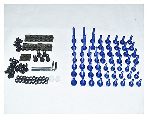 JUANJUAN CNC Tornillos de Carga completos Cuerda Tornillos Tuercas Nuts Kit Ajuste para Triumph Daytona 675 06-14 (Color : Blue)