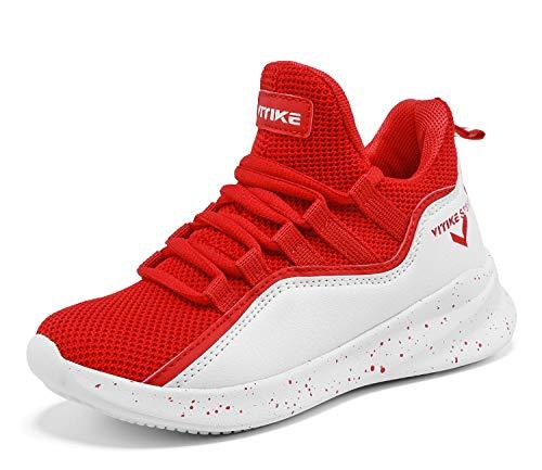 Basketballschuhe Jungen Sneakers Kinder Sportschuhe Turnschuhe Mädchen Hallenschuhe Outdoor Laufschuhe für Unisex Herren Damen Rot gr 32