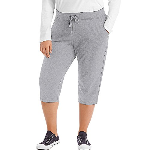 JUST MY SIZE French Terry Women's Capris Light Steel