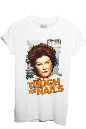 MUSH T-Shirt Orange is The New Black Tough As Nails - Film by Dress Your Style - Homme-L Blanc