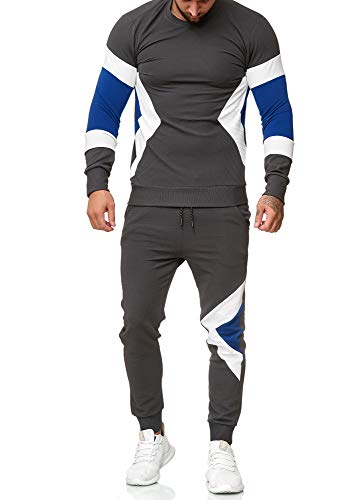 OneRedox | Herren Trainingsanzug | Jogginganzug | Sportanzug | Jogging Anzug | Hoodie-Sporthose | Jogging-Anzug | Trainings-Anzug | Jogging-Hose | Modell 1215 Antra XL