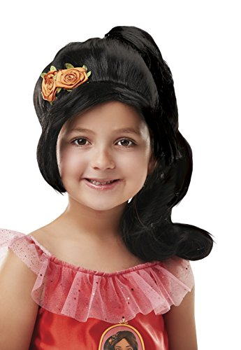 Rubies - Peluca infantil de Elena de Avalor con coleta, para niña - Talla única (Rubie's 34918)