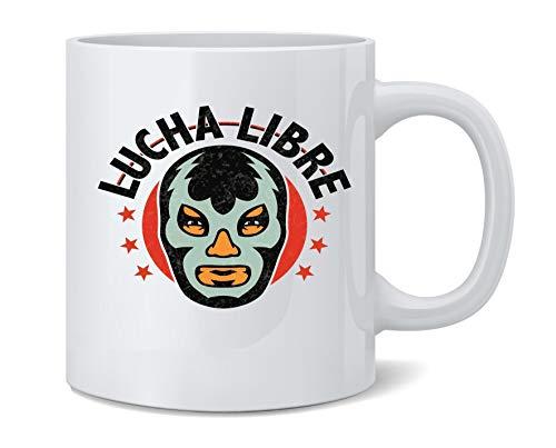 Poster Foundry Lucha Libre Retro Mexican Wrestler Wrestling Ceramic Coffee Mug Tea Cup Fun Novelty Gift 12 oz