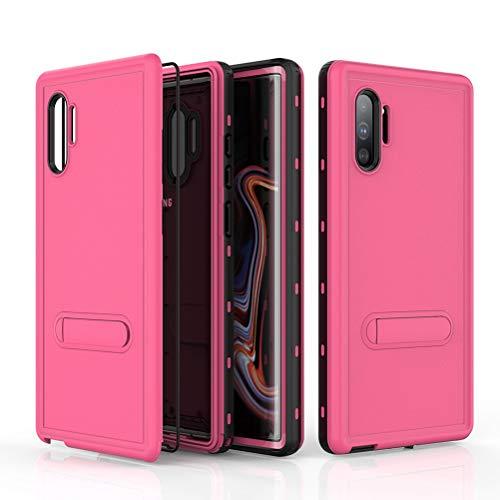 UBERANT Capa para Galaxy Note 10 Plus, proteção de 360 graus, à prova d'água, poeira, à prova de choque com função de suporte, capa protetora para Samsung Galaxy Note 10 Plus (rosa)
