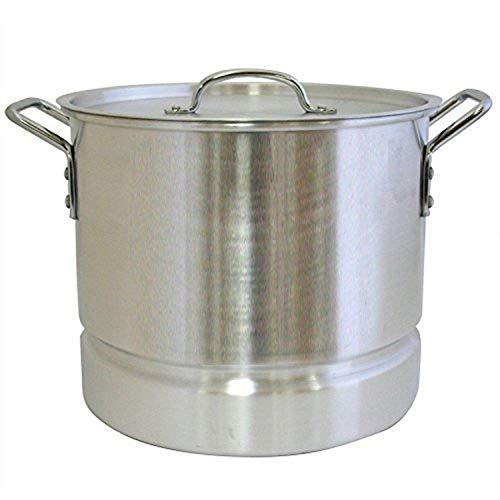Aramco AI-820-4C Alpine Gourmet Aluminum Stock Pot with Lid Steamer, 16 Quart, Silver