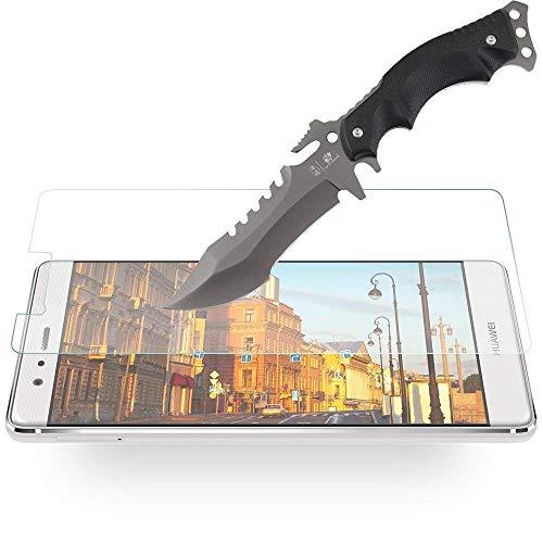 [3 Stück] Huawei P9 Schutzfolie, MaxTeck Gehärtetem Glas Panzersglas Hartglas Displayschutz für Huawei P9 9H Härte, Anti-Kratzen, Anti-Öl, Anti-Bläschen - 6