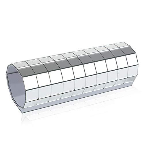 mooderf 150 espejos adhesivos, 10 mm x 10 mm, azulejos de cristal autoadhesivos, para decoración de pared, para el hogar, sala de estar, dormitorio, decoración de pared