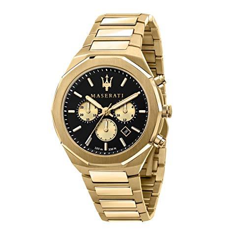 Maserati Reloj Hombre, Colección Stile, Cuarzo, Cronógrafo, en Acero, PVD Oro - R8873642001