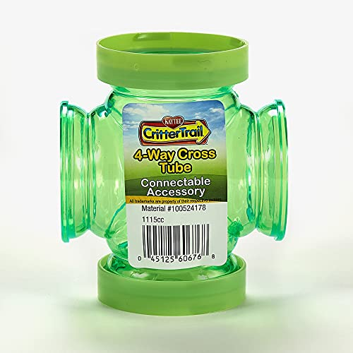 Kaytee Crittertrail 4-Way Cross Tube | Connectable Accessory for Fun-Nel