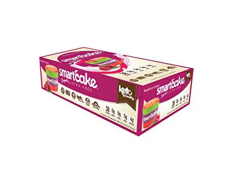 Smart Baking Company Smartcake, Sugar Free, Gluten Free, Low Carb, Keto Dessert (Raspberry Cream, 8CT)