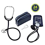 Primacare CSDS-9197-BL Classic Series Adult Blood Pressure Kit with Stehoscope, Blue (Pack of 24)
