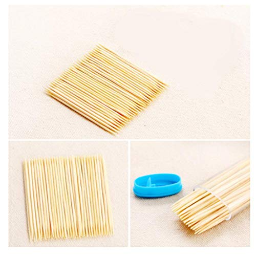 Gambit Bamboo Toothpicks with Toothpick Dispenser (Multicolor)
