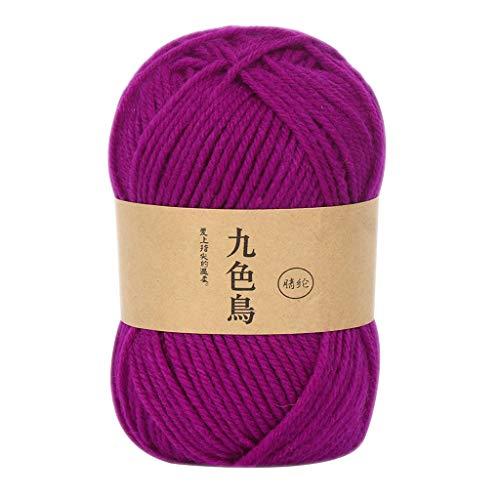 HSKB – Juego de ovillos de lana para tejer con purpurina, hilo de lana, hilo de coser, hilo de ganchillo para hacer bufandas, Madera, G, small