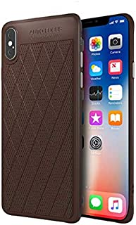 High-grade iPhone XS Max case business style all inclusive phone shell anti fall shockproof protective sleeve brown