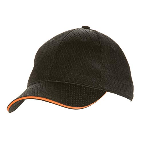 Colour by Chef Works Bcct-ora-0 Cool Vent Casquette de baseball, Orange Trim, taille unique, Noir