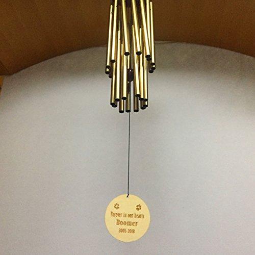mylifemylove Carillon Chien Memorial Cadeau, cadeau personnalisé Carillon pour perte d'animal domestique, Forever dans Nos cœurs Cadeau Classique 40 inches light bronze