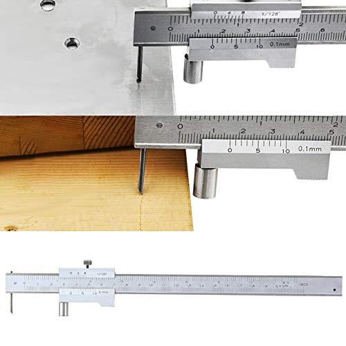 Oyunngs Pinça de discagem de 0-200 mm, pinça de alta precisão Pallel Crossed Vernier Pallel Crossed Vernier Pallel Mking GauDurável em uso