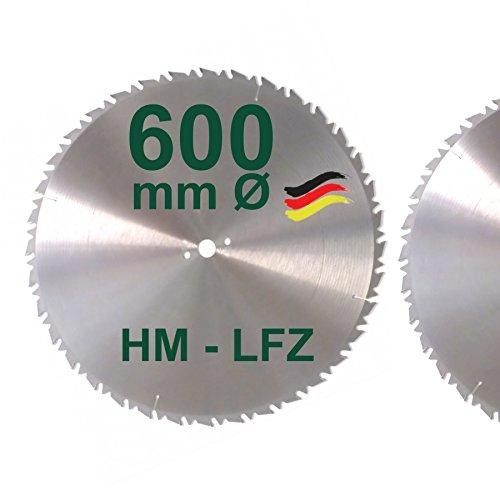 HM Sägeblatt 600 mm LFZ Flach-Zahn Hartmetall Widea für Brennholz Hartholz Kreissägeblatt für Wippsäge und Brennholzsäge 600mm
