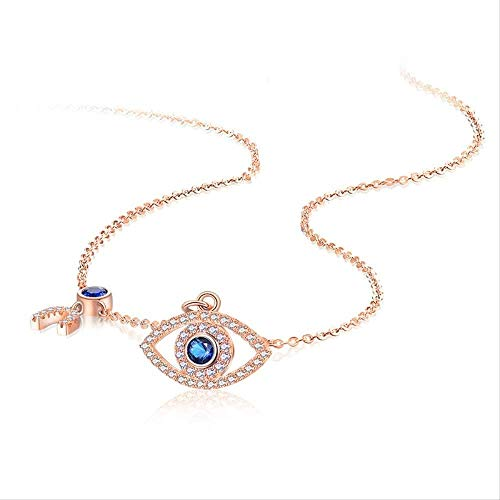 CCXXYANG Co.,ltd Necklace Evil Eye Necklace Women Blue Main Stone 925 Sterling Silver Statement Necklaces & Pendants Long Chain Turkish Jewelry Making