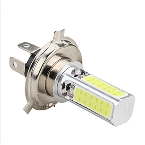 Faros LED 1 pieza H4 / P15D / BA20D LED COB Luz para la bombilla de faro de la motocicleta 6000k blanco 12V luces de niebla DIRIGIÓ Bulbo El ahorro de energía ( Color : White , Socket Type : H4 )