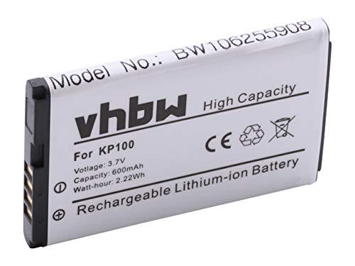 vhbw Akku passend für LG KP130, KP 130 Handy Smartphone Handy (600mAh, 3.7V, Li-Ion)
