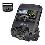 Dual Dash Cam GOODTS 1080P Full HD Dash Camera for Cars, Car Video Recorder with G-Sensor,Front and Rear Camera 170° Wide Angle, Motion Detection, Parking Mode, Loop Recording, Night Vision