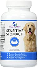Vital Planet Sensitive Stomach for Dogs - Natural Support for Optimum Digestive Health in Dogs - 60 Chewable Tablets