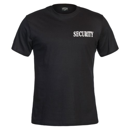 Mil-Tec T-shirt noir avec double impression Security XXXL Noir