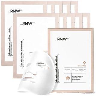 RNW Ganoderma Lucidum Mask Face Sheet 1SET (10EA), Korean Mask Sheet Moisturizer Face Line Keeping Elastic Mask Five-layer...