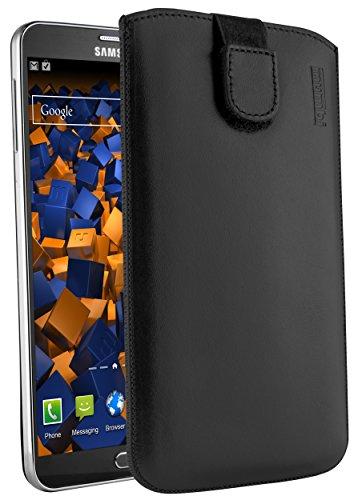 mumbi Echt Ledertasche kompatibel mit Samsung Galaxy Note 3 / Note 3 Neo Hülle Leder Tasche Case Wallet, schwarz