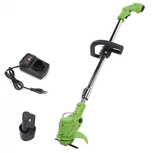 XFQ Hand Held Grass Trimmer, Regolabile Garden Lawn Mower Cordless Tosaerba Elettrico Leggero Tosaerba Rotanti