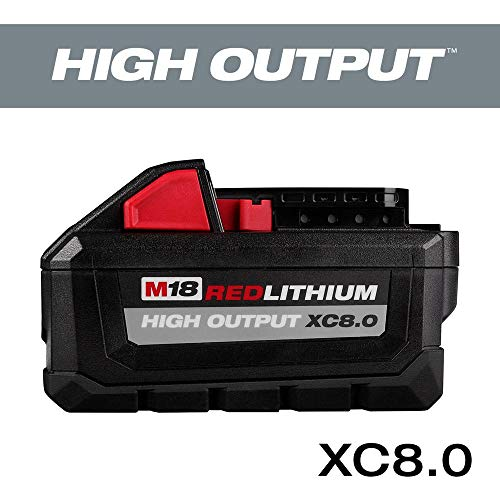 MILWAUKEE 48-11-1880 M18 REDLITHIUM HIGH OUTPUT 18v 8.0 Ah Lithium-Ion Battery Pack