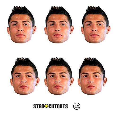 Star Cutouts SMP363 Ronaldo Maske, Einheitsgröße